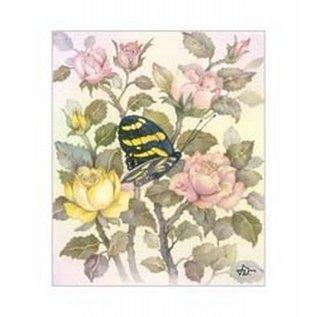 Creatief Art Pakket 6x SWR6-0051 Vlinder tussen roern