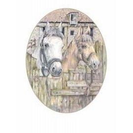 Creatief Art Pakket 6x SWR9-18  24/30  Paarden aan hek