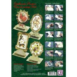 Reddy cards Pakket opstalkaarten Kerst bloemen 01