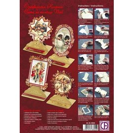 Reddy cards Pakket opstalkaarten Kerst nostalgie kinderen (NIEUW)