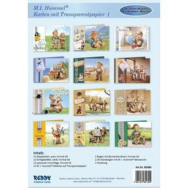 Reddy cards Hummel-Karten mit Transparantpapier1