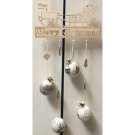Creatief Art Frohe Weihnachten Ornament Holz