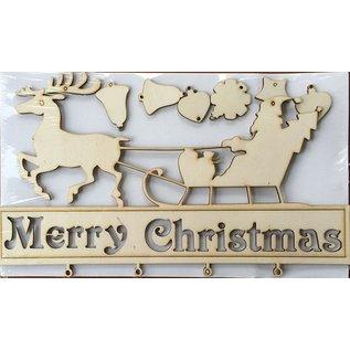 Creatief Art Ornament Merry Christmas Hout