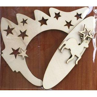 Creatief Art Ornament Kerstboom Hout