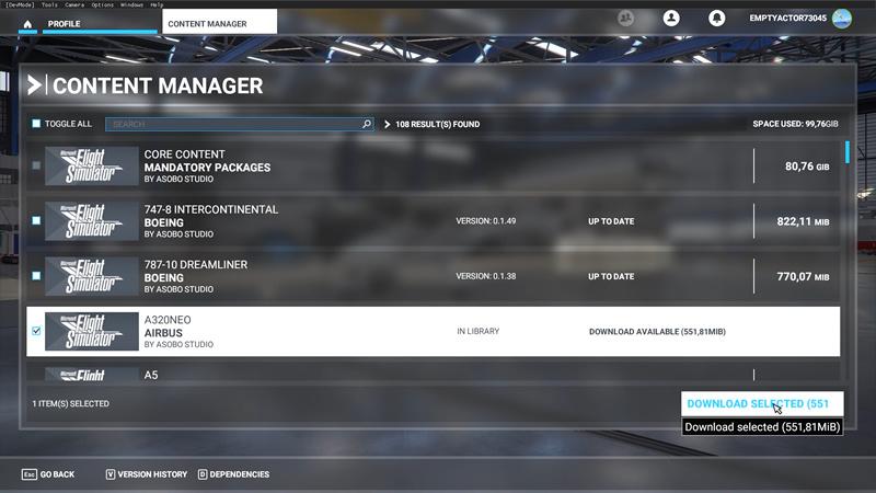 MSFS Content Manager (Downloaden missende content)