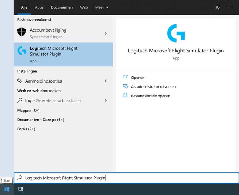Logitech plugin in startmenu