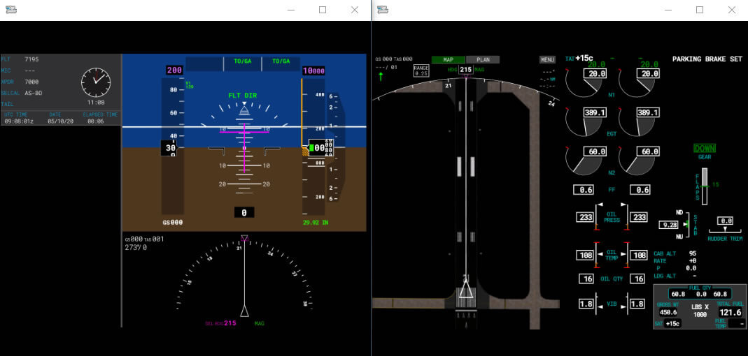 PFD en MFD Undocked Microsoft Flight Simulator