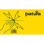 Patura Waarschuwingsbord 'Pas op elektrische afrastering'