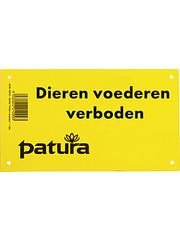 Patura Waarschuwingsbord - Verboden dieren te voeren