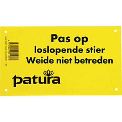 Patura Waarschuwingsbord- Loslopende stier, weide niet betreden