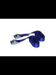 Spanband met klemgesp 25mm 2,5 meter 2 stuks blauw