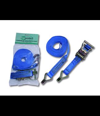 Spanband 25mm 6 meter ratelgesp en haken