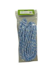 Koetouw nylon blauw/wit 200cm - 12mm 5 stuks