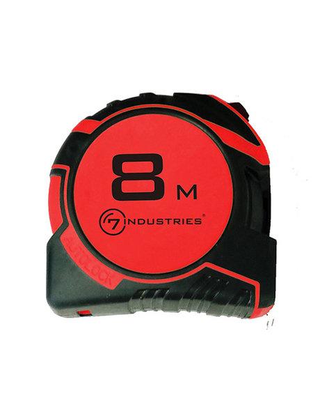 Rolbandmaat 8m x 25mm magnetisch autolock mm/inch