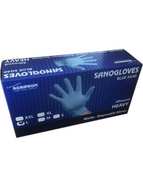 Sanogloves melkershandschoenen blauw