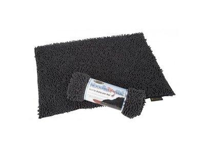Scruffs Noodle Dry Mat - Absorberende droogmat voor honden - Ideaal voor het drogen van je hond - Neemt veel water op - Grijs, rood of bruin - 90x60cm
