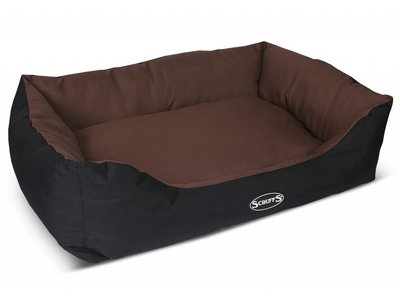 Hondenmand voor Grote Honden - Vuilafstotend met anti-slip onderzijde - Scruffs Expedition Box - In Grijs en Bruin Large of Extra Large