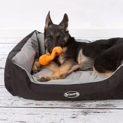 Hondenmand voor Grote Hond in Grijs en Bruin