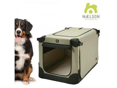 Maelson Luxe Bench voor Honden met 3 openingen - Opvouwbaar Met Wasbaar binnenkussen - Maelson Soft Kennel in XXS tot XXL