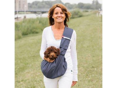 4LazyLegs Pocket Draagzak voor Honden tot 15kg  in 5 kleuren - 80 cm lang en 30cm diep