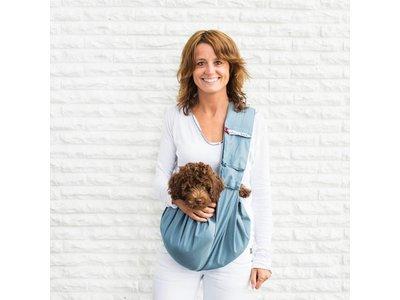 4LazyLegs Pocket Canvas Wasbare Draagtas voor Pups en Kleine Honden tot 7kg in 4 kleuren