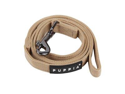 Hondenlijn van Stevig Nylon/ Katoen - Puppia - Verkrijgbaar in 5 kleuren in maten S, M of L