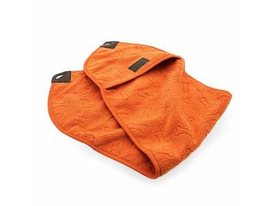 Greenfields Pocket Towel - Handdoek van microvezel voor honden - Om je hond snel af te drogen - Oranje - 25x91cm