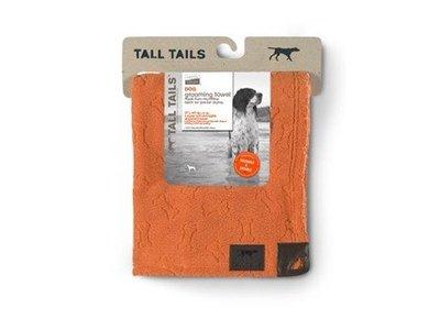 Microvezel Hondenhanddoek om snel je hond af te drogen - Tall Tails Orange Bone - Oranje 68x100cm