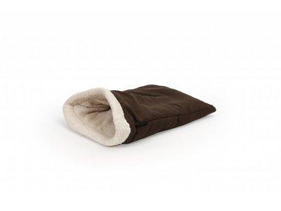 Warme Slaapzak voor Kleine Honden - 51 Degrees North - Bruin/Beige of Zwart/Grijs 55x35x25cm