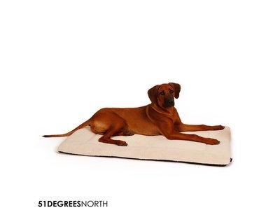 Hondenbench Kussen Warm & Wasbaar - 51 Degrees North - Naturel of Antraciet - Maat S tot XL
