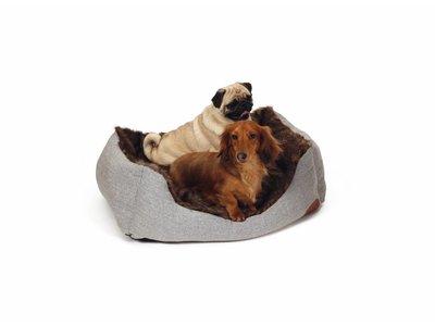 Zachte en Warme Hondenmand in Grijs/ Bruin