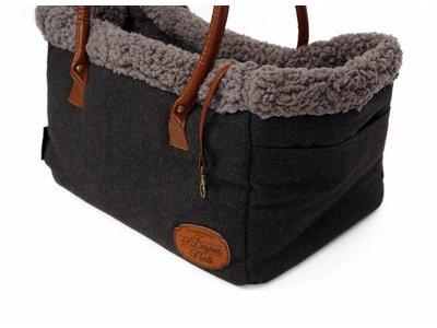 Comfortable Stijlvolle Draagtas voor honden en katten - 51 Degrees North - Antraciet of Bruin 26x40x26cm