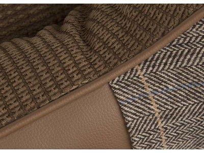Luxe Tweed Hondenmand met Chenille Voering - Scruffs Windsor in Grijs en Bruin S/M/L/XL