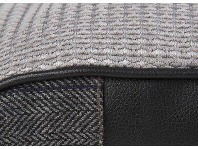 Geruit Hondenbed 100x70cm met Anti-Slip Onderzijde - Wasbaar - Scruffs Windsor in Grijs en Bruin