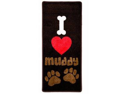Pet Rebellion Droogloopmat I Love Muddy Paws