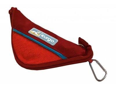 Kurgo Zippy Bowl - Compacte lichtgewicht en opvouwbare voer-/drinkbak voor honden voor onderweg - Blauw, rood