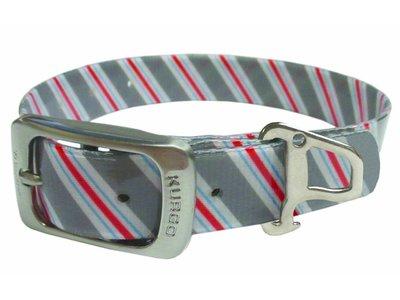 Muck Collar Hondenhalsband Prepster Stripe  Grijs