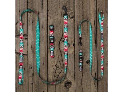 Kleurrijke Honden Halsband met Inheemse Patronen en Felle Stijlvolle Kleuren  - Wolfgang FurTrader - in S/M/L