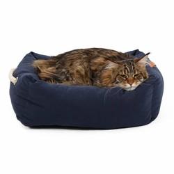 Zachte Kattenmand in Grijs en Blauw