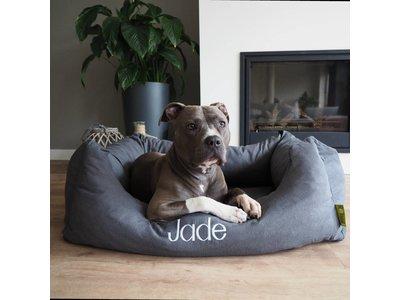 Extra optie borduren: unieke mand met de naam van je eigen hond!