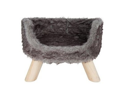 Luxe Kattenmand op Pootjes - District 70 - 40x30x25cm in Silver, Mocca of Merengue