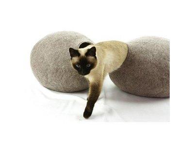 Vilt Kattenhuis van Merino Wol