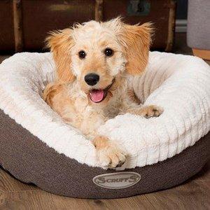 Warme Hondenmand Donut van Lamswol - Scruffs