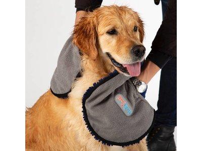 Absorberende Microvezel Handdoek voor Honden - Scruffs - in Blauw, Grijs of Rood