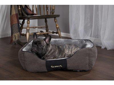 Scruffs Chester Box Hondenmand Zacht en Stevig in Grijs en Bruin