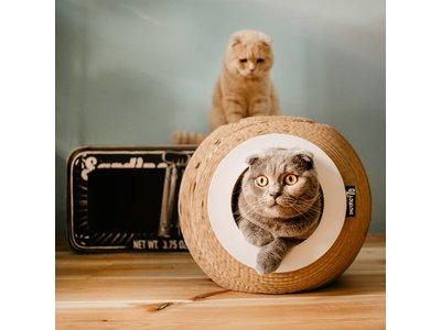 Krabmeubel Bal voor Katten van gerecycled Karton - District 70 - 37x37x32cm