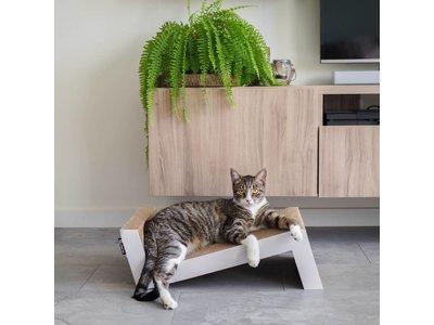 Krabplank voor Katten van duurzaam en gerecycled karton - District 70 - 60x28x18 cm