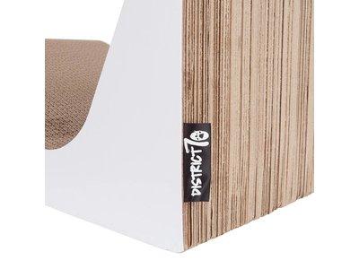 Golvend Krabmeubel - Krabpaal & Ligplaats van duurzaam & gerecycled karton - District 70 - 60x40x20cm