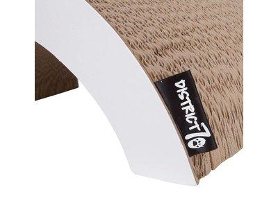 Gebogen Krab- & loungemeubel van duurzaam & gerecycled Karton - District 70 Arch - 60x28x20cm