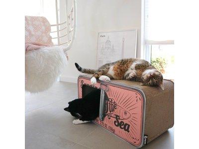 Design Katten Krabmeubel - District 70 Sardine - in Black, White of Peach